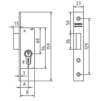 serrure encastrer pour armoires compteurs de gaz mcm 1649s. Black Bedroom Furniture Sets. Home Design Ideas