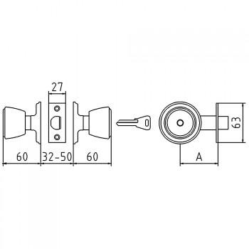 Cerradura tubular de pomo mcm 508 rationalstock - Pomo puerta exterior ...
